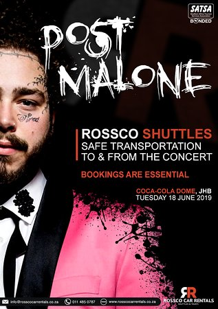 need a ride to the post malone concert