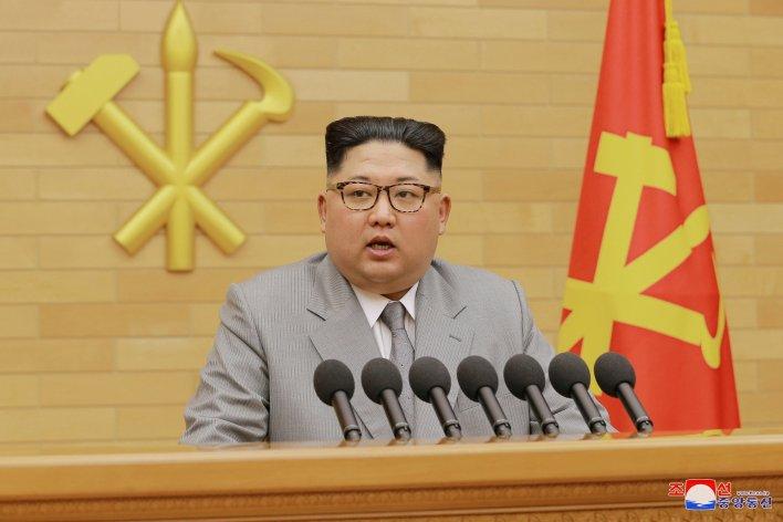 kim jong un highlights his 'nuclear button,' offers olympic talks