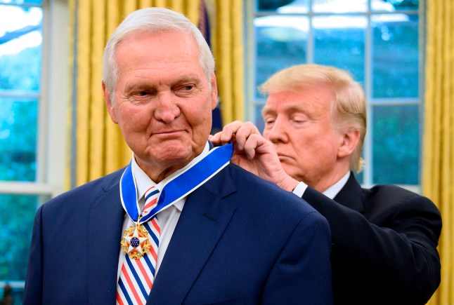 Trump awards Presidential Medal of Freedom to NBA legend Jerry West