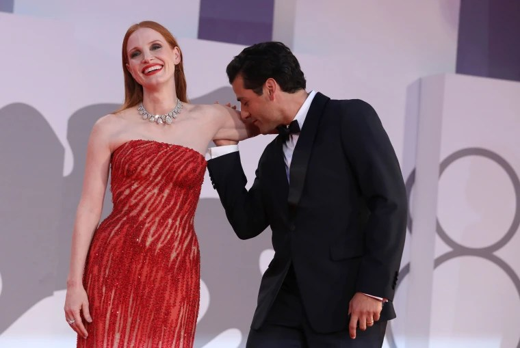 Jessica Chastain and Oscar Isaac at Venice Film Festival