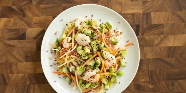 Asian Shrimp and Carrot Slaw