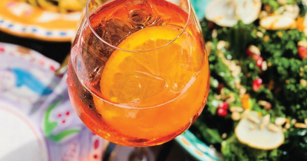 aperol spritz at pizza republica
