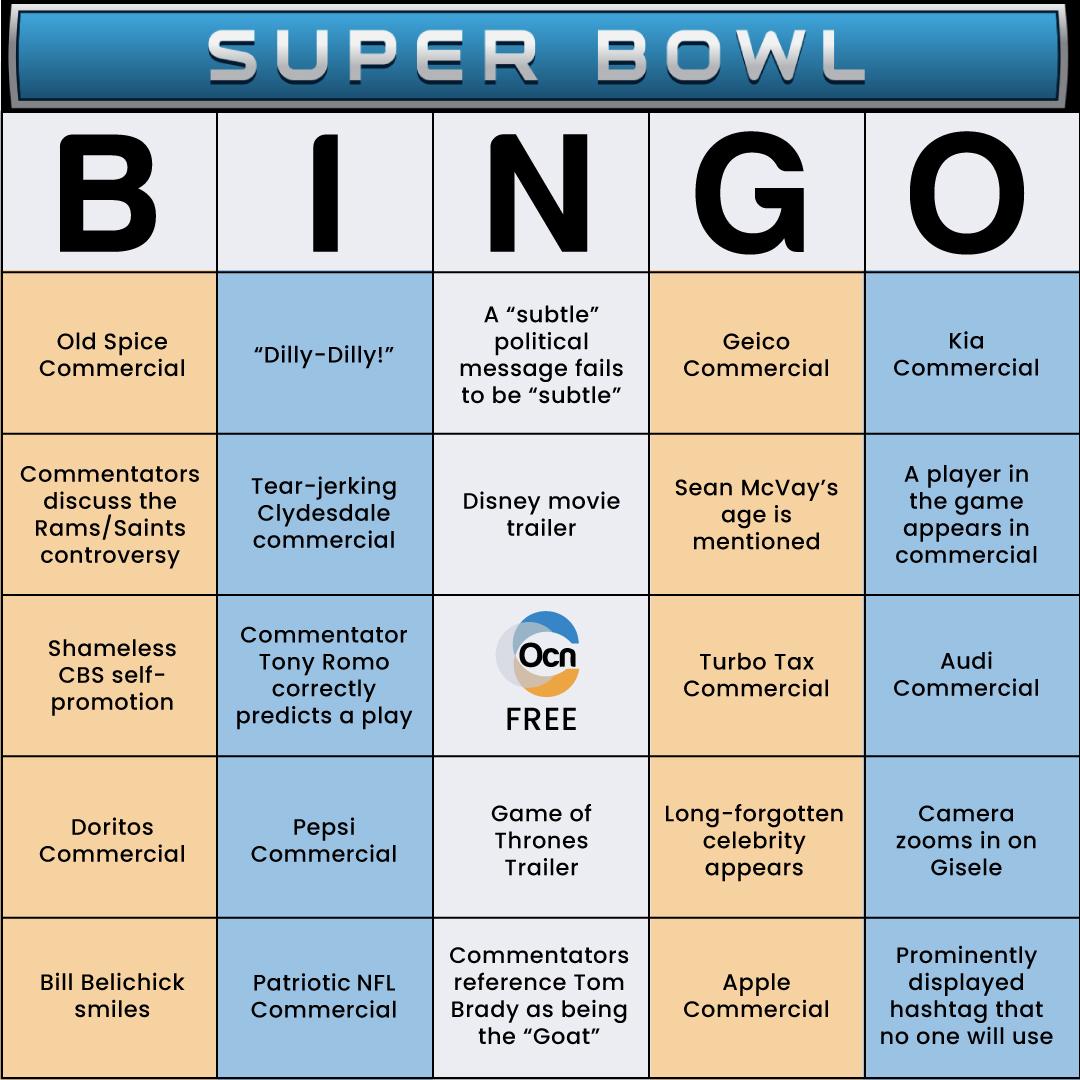 Super Bowl Bingo