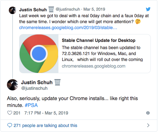 Google Chrome Users: Update Chrome 'Right This Minute'