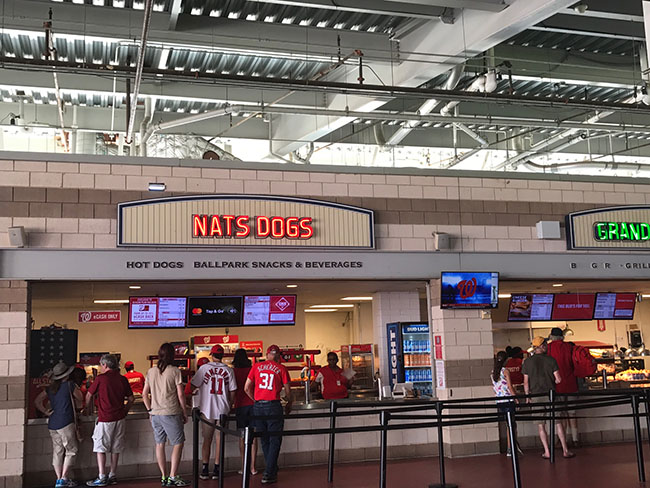 Concession Stands at Nationals Park