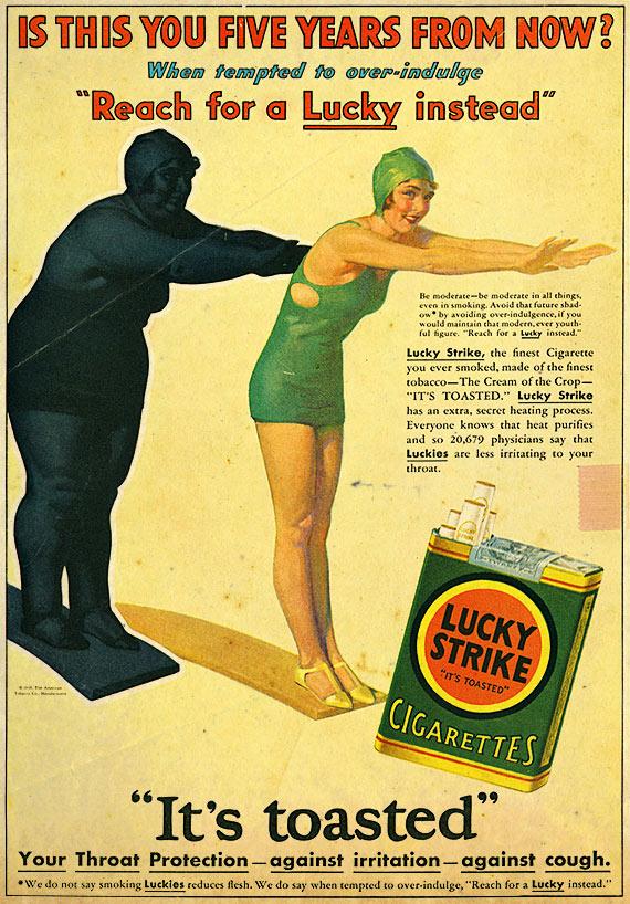 vintage lucky strike ad