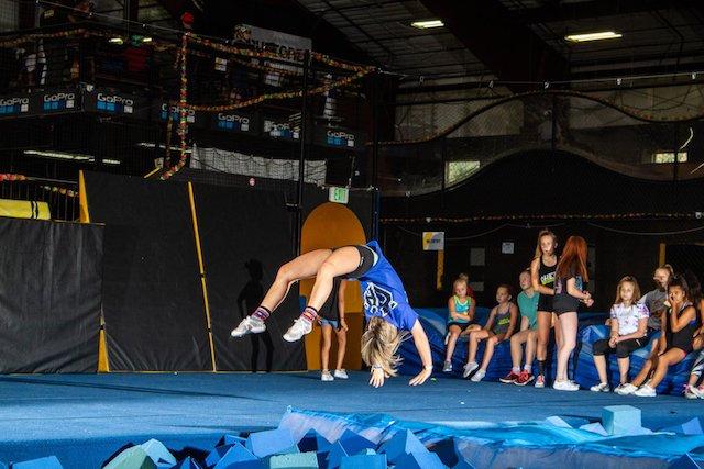young gymnast at camp woodward