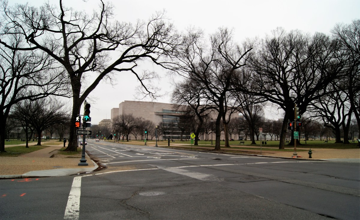 National Mall during government shutdown