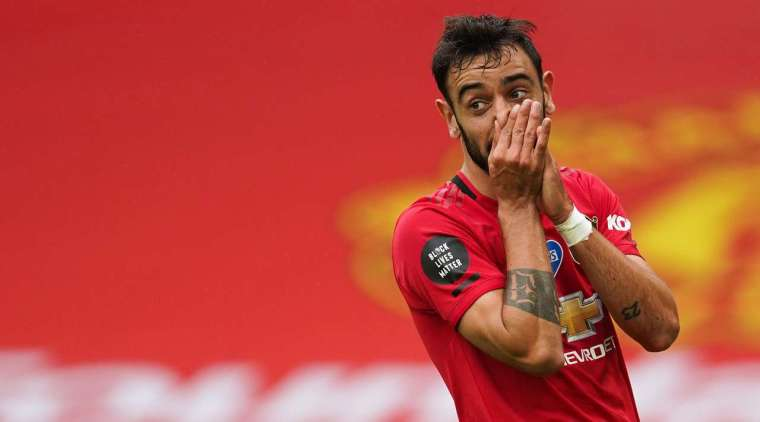 10 minutes Marcus Rashford made a great cross, and there Bruno Fernandes (Manchester United) played excellently on the edge of the penalty area, but shot pretty high above the goal.