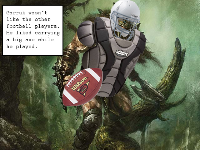 Image result for magic the gathering football player