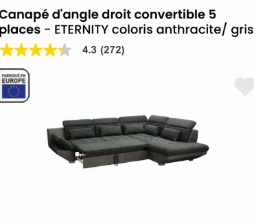 achat canape convertible occasion