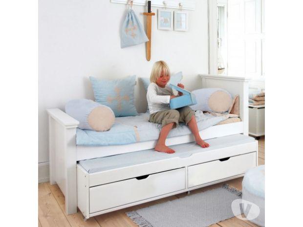 lit 90x200 avec lit gigogne et tiroirs