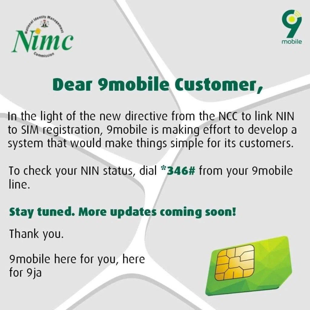How to link NIN to sim card: How to check National Identification Number from your phone 4
