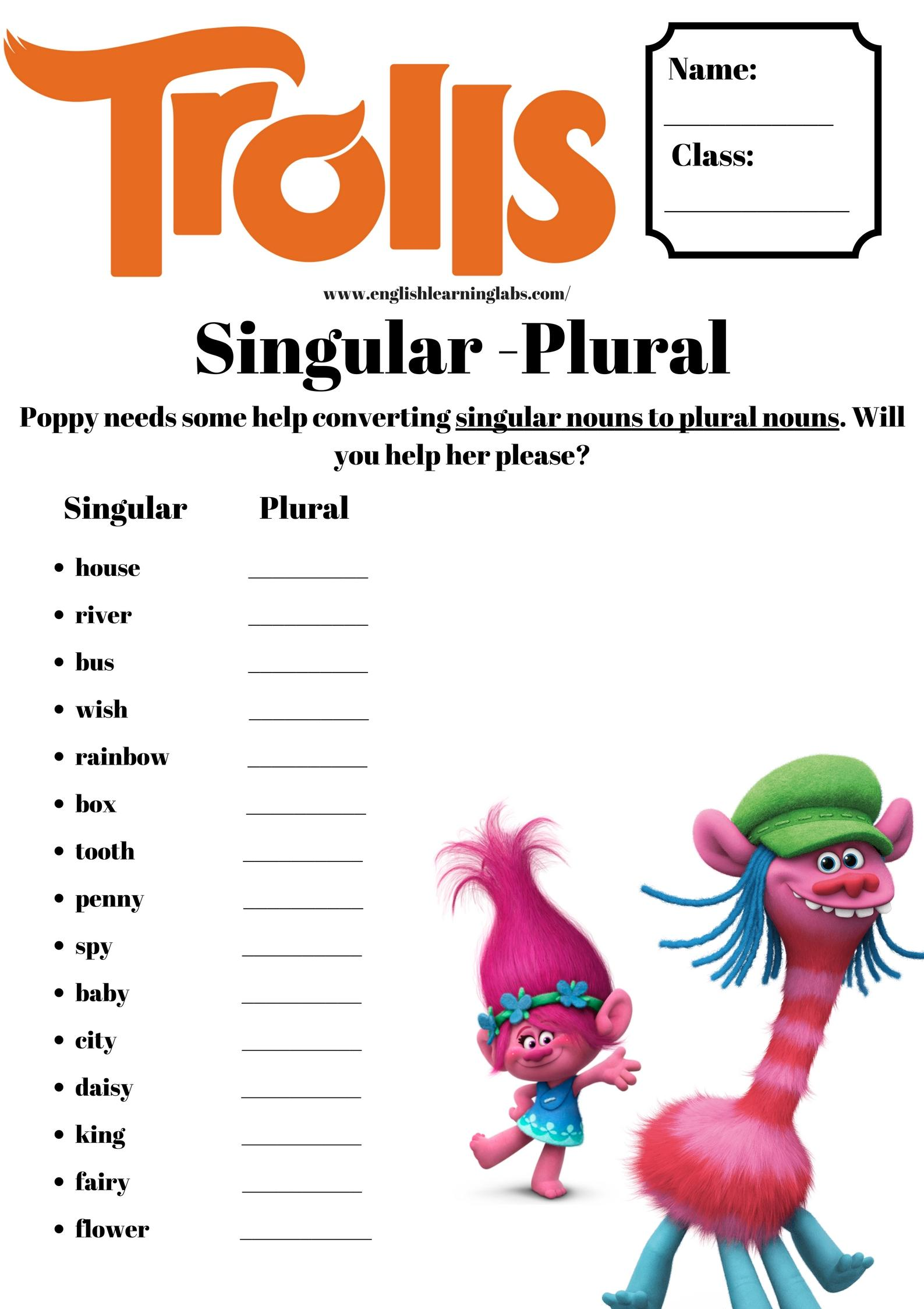 Free English Grammar Worksheets For Primary School