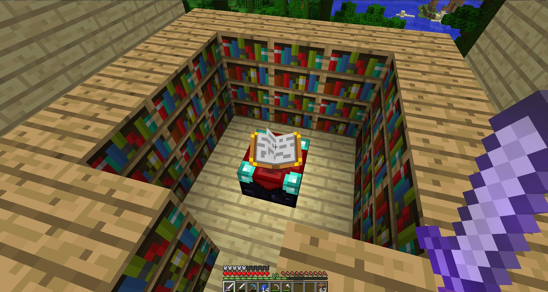 enchanting with bookshelf not working in survival mode - survival