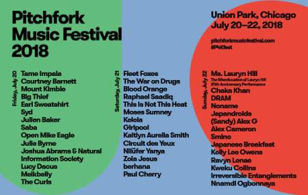 Click to download the Pitchfork Music Festival 2018 poster