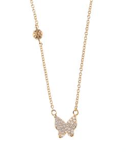Colier placat cu aur, pandantiv fluture