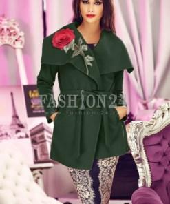 Palton 3D Khaki Rose