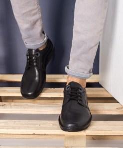 Pantofi barbati Piele Arreola negri casual