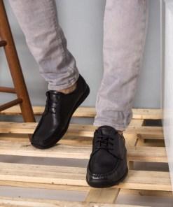 Pantofi barbati Piele Eurico negri casual