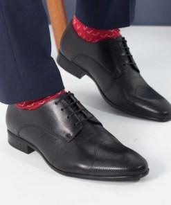 Pantofi barbati Piele Jobson negri eleganti