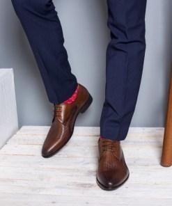 Pantofi Piele Pavvel maro eleganti