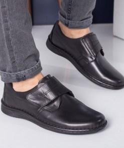 Pantofi barbati Piele Sato negri casual