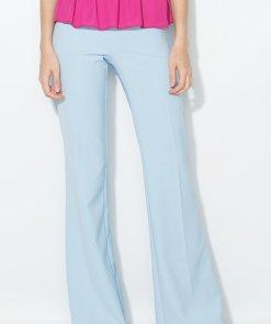 Pantaloni evazati bleu