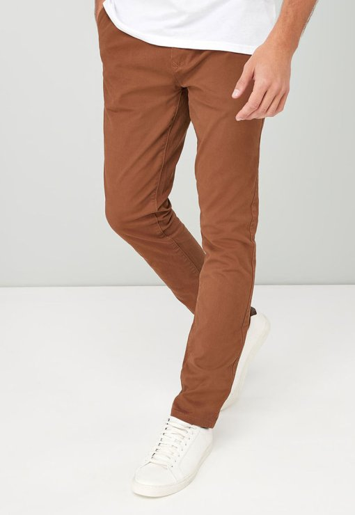 Pantaloni chino cu croiala skinny