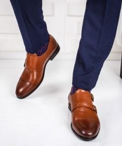 Pantofi Piele Ufeli camel eleganti