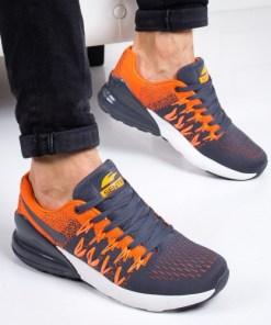 Pantofi sport Suremo gri cu portocaliu