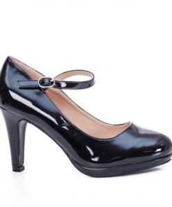 Pantofi Belarius negri cu toc
