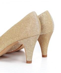 Pantofi Fimili aurii cu toc