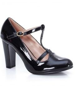 Pantofi Mabovi negri cu toc