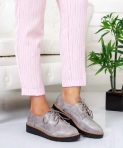 Pantofi Maxil gri tip Oxford