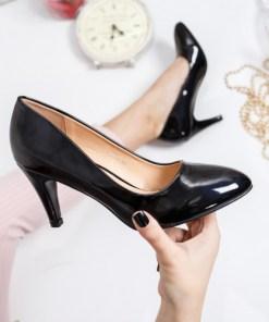 Pantofi Serima negri cu toc
