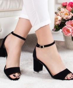 Sandale Sendila negre cu toc
