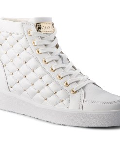 Sneakers GUESS - FLACE3 LEA12 White