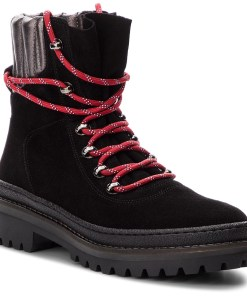 Trappers TOMMY HILFIGER - Modern Hiking Boot S FW0FW03048 Black 990