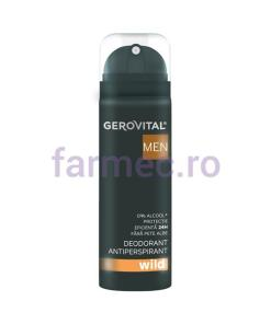 Deodorant Antiperspirant Wild 150 ml, Gerovital Men