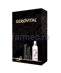 Casetă Gerovital H3 Evolution + Beauty: Apă micelară cu Acid Hialuronic + Mascara Devilash + Creion dermatograf negru