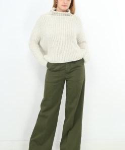 Pantaloni zara green flare legi