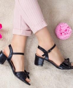 Sandale Lorelima negre cu toc