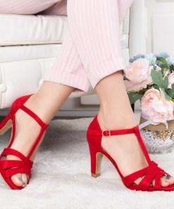 Sandale Vocimi rosii cu toc 19