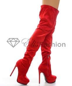 Cizme Winter Edition Red #5544