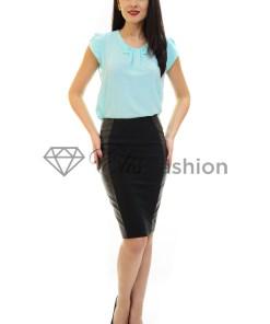Fusta Ella Collection Leather Side Black
