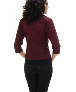 Sacou Ella Collection Lining Lace Burgundy