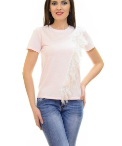Tricou Flash Tulle Rose