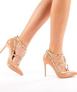 Pantofi stiletto Agata bej