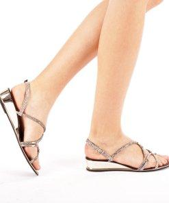 Sandale dama Encroe gri inchis